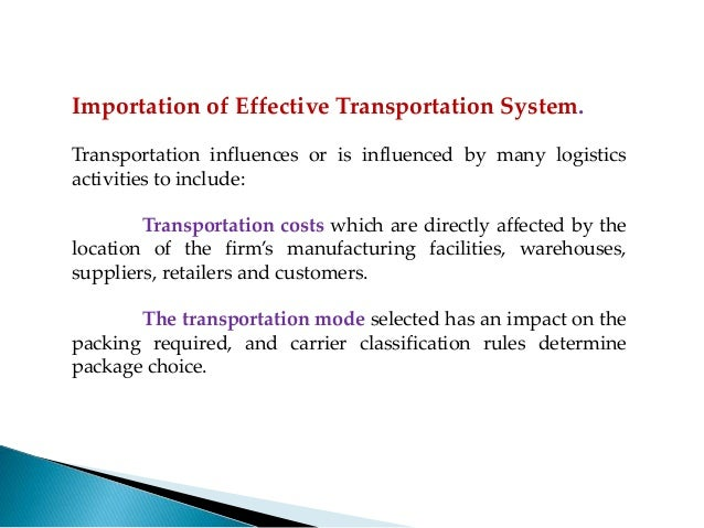 multi modal transport system effects on selection Bicycles, pedestrians and transit in order achieve a system of complete streets and a multimodal community transportation impact analyses (tia) are a critical component of the development.