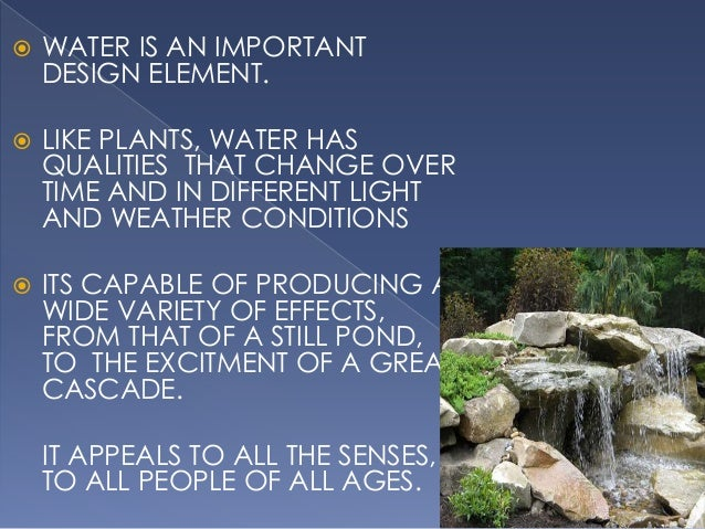 Role Of Water In Landscape S5