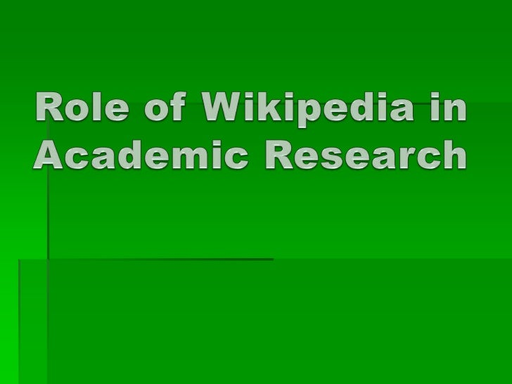 This study is about the use of Wikipedia by research scholars (registered atsix different Indian colleges) during their do...