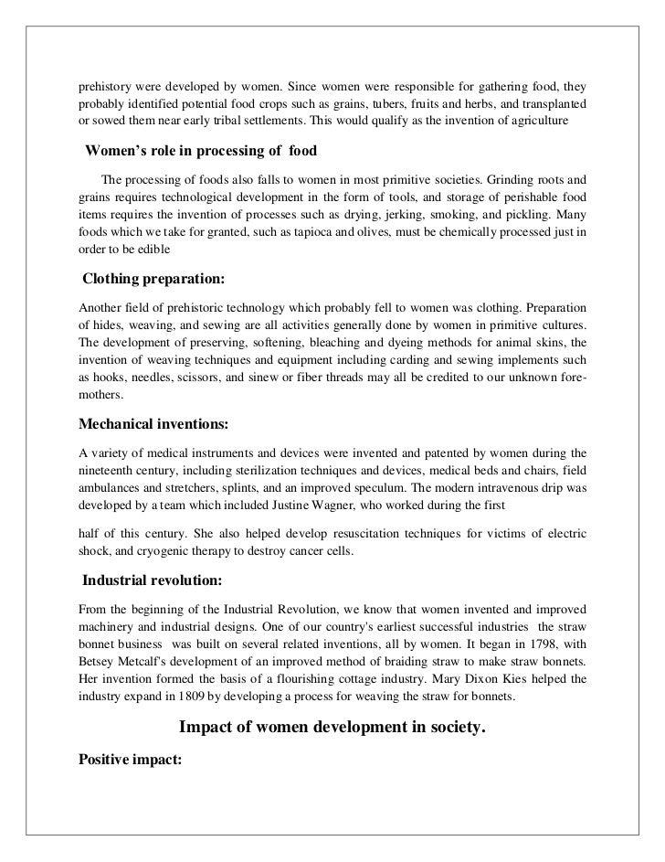 Women & sustainable development