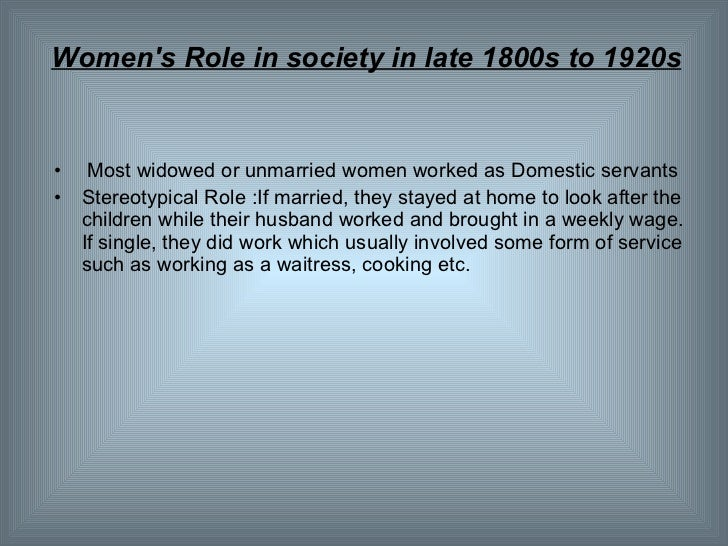 womens roles in the 1800s