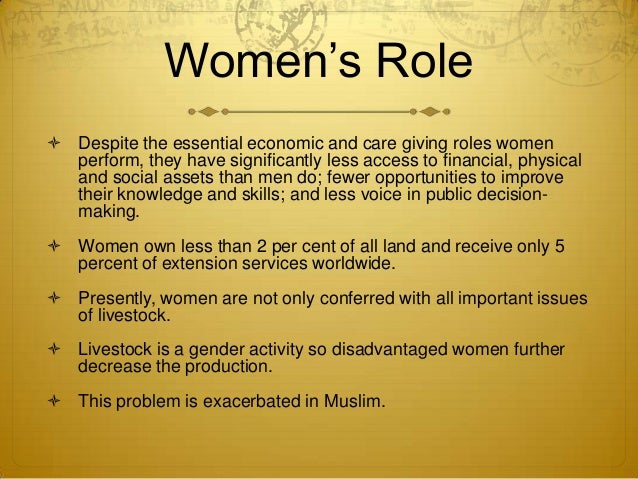 Role of women in livestock management, their constraints and training…