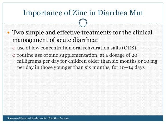 Role Of Zinc In Diarrhea Mm