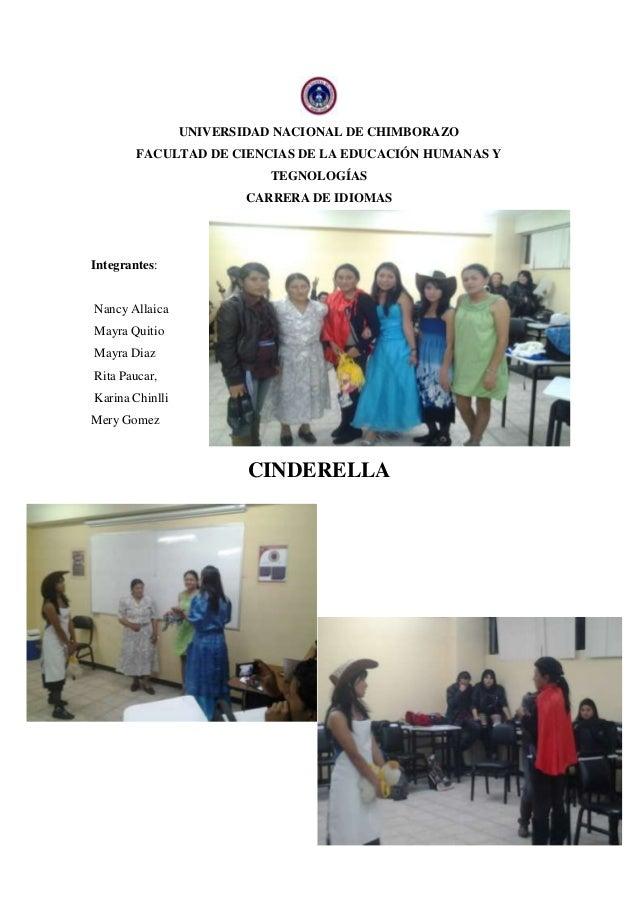 UNIVERSIDAD NACIONAL DE CHIMBORAZOFACULTAD DE CIENCIAS DE LA EDUCACIÓN HUMANAS YTEGNOLOGÍASCARRERA DE IDIOMASIntegrantes:N...