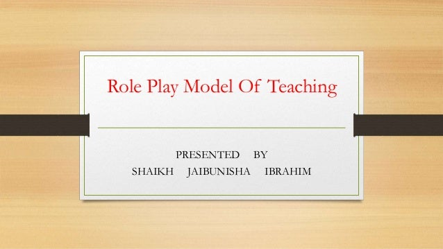 Role play model of teaching