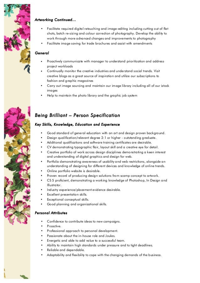 Role Profile Junior Web Graphic Designer