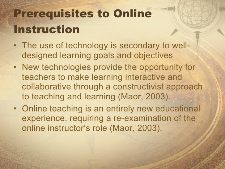 Roles and Responsibilities of the Online Instructor Slide 3