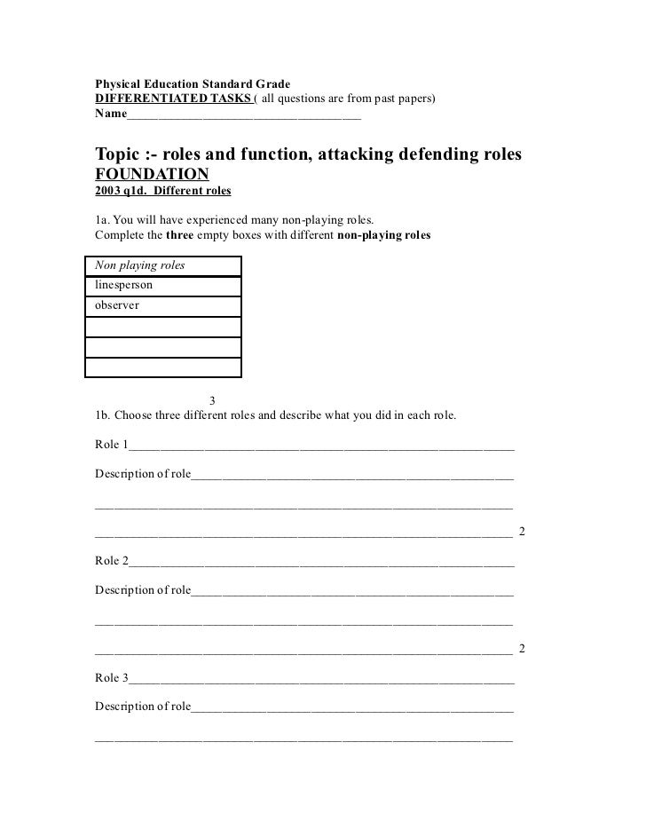 Roles and function attacking defending roles22