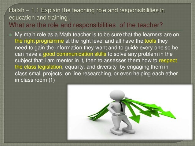 role responsibilities and boundaries of own Section 1: understand own role, responsibilities and boundaries of role in relation to teaching aim: the aim of this section is to enable you to understand the role of the teacher and.