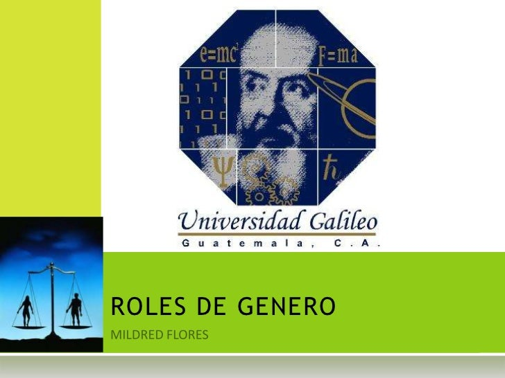 MILDRED FLORES<br />ROLES DE GENERO<br />