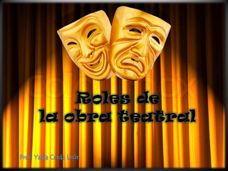 Roles de la obra teatral for La cocina obra de teatro