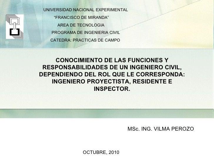 "UNIVERSIDAD NACIONAL EXPERIMENTAL "" FRANCISCO DE MIRANDA"" AREA DE TECNOLOGIA PROGRAMA DE INGENIERIA CIVIL CATEDRA: PRACTIC..."