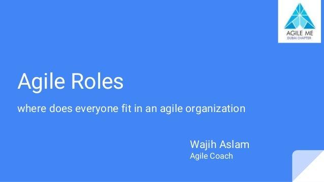 Agile Roles where does everyone fit in an agile organization Wajih Aslam Agile Coach
