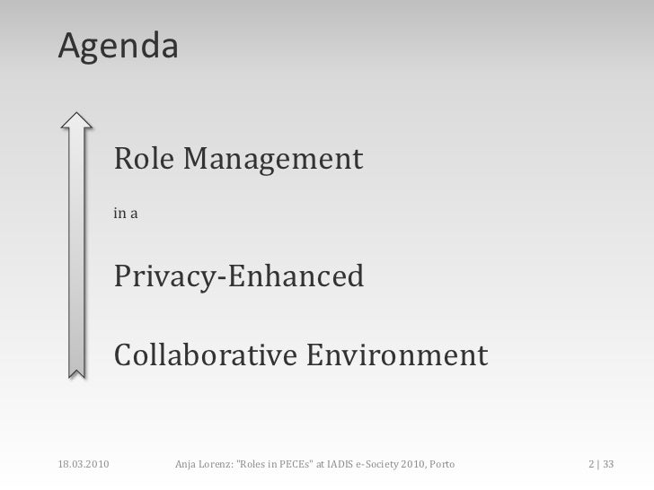 Role Management In Privacy-enhanced collaborative environment Slide 2