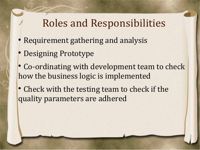 roles and responsibilities ba roles and responsibilities