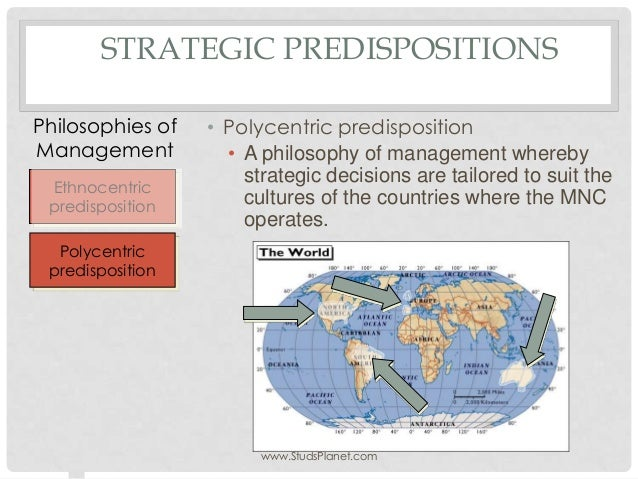 differences between ethnocentric and geocentric predisposition Internationalisation and global risk  distinguished between ethnocentric, polycentric, and geocentric approaches to  differences between countries are sometimes .