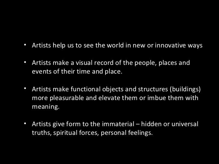 Ch. 1 - Roles of the artist Slide 2