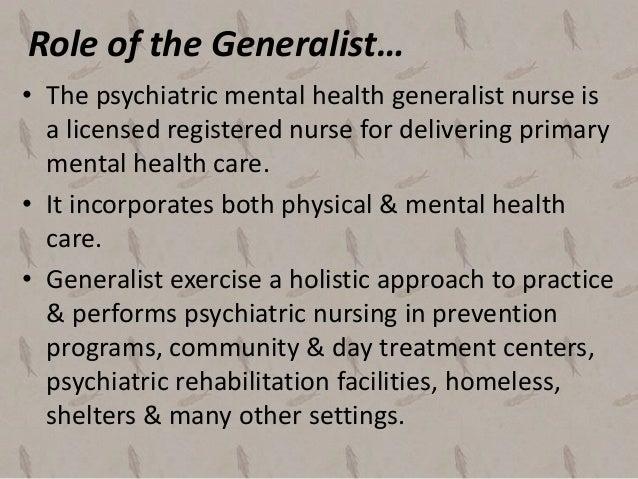 mental health nursing definition