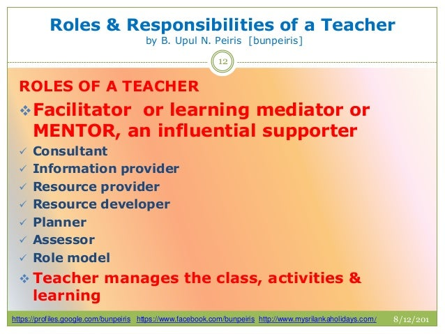 Roles and responsibilities of a teacher ptlls assignment