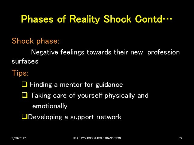 Role transition & reality shock