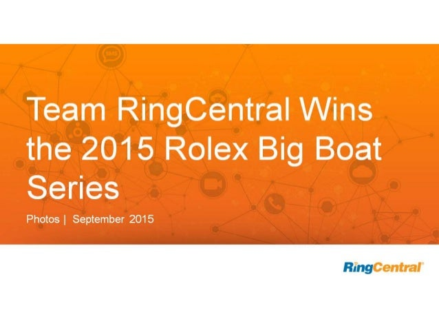 Team RingCentral Wins the 2015 Rolex Big Boat Series