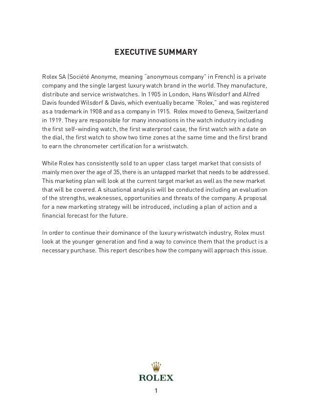 rolex market share