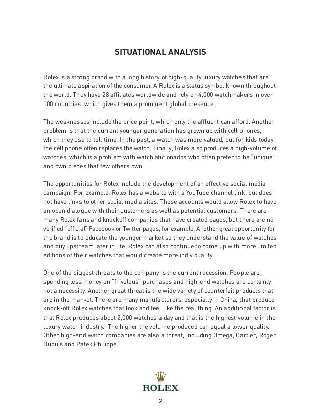 current situational analysis essay View this essay on conducting situational analysis current values and trends, political and legal factors, and environmental threats or opportunities.