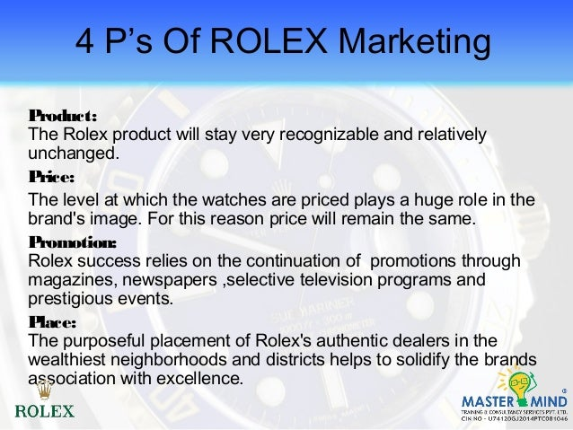Rolex strategic plan