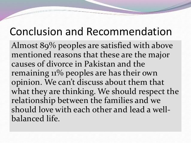 major causes of divorce
