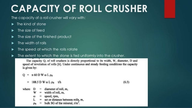 Roll crushers 13 power consumption of roll sciox Choice Image