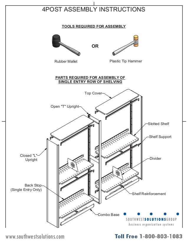 Rolled Plan Storage Assembly Instructions