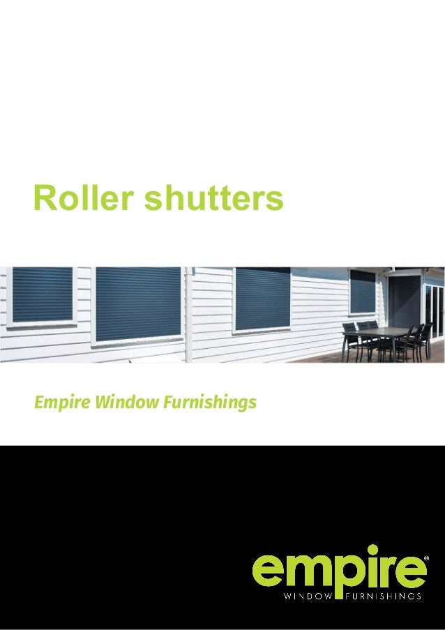 Empire Window Furnishings Roller shutters