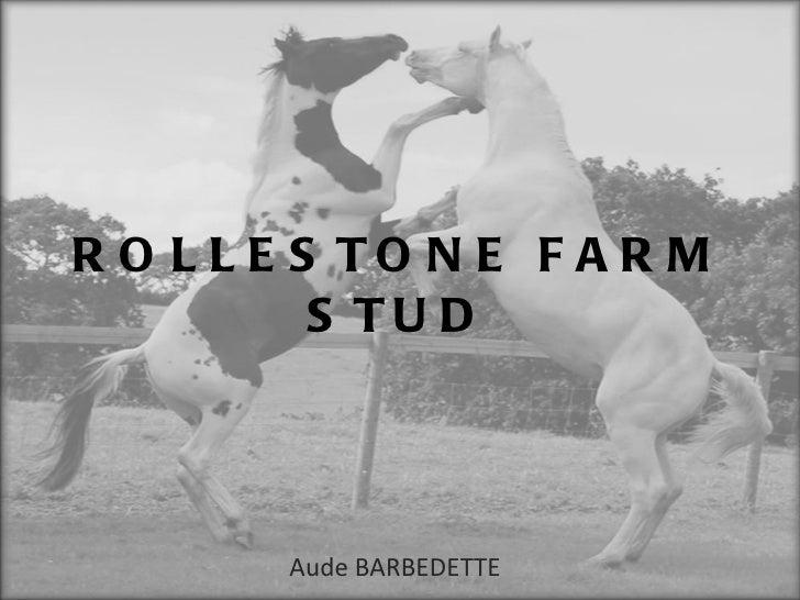 ROLLESTONE FARM STUD Aude BARBEDETTE