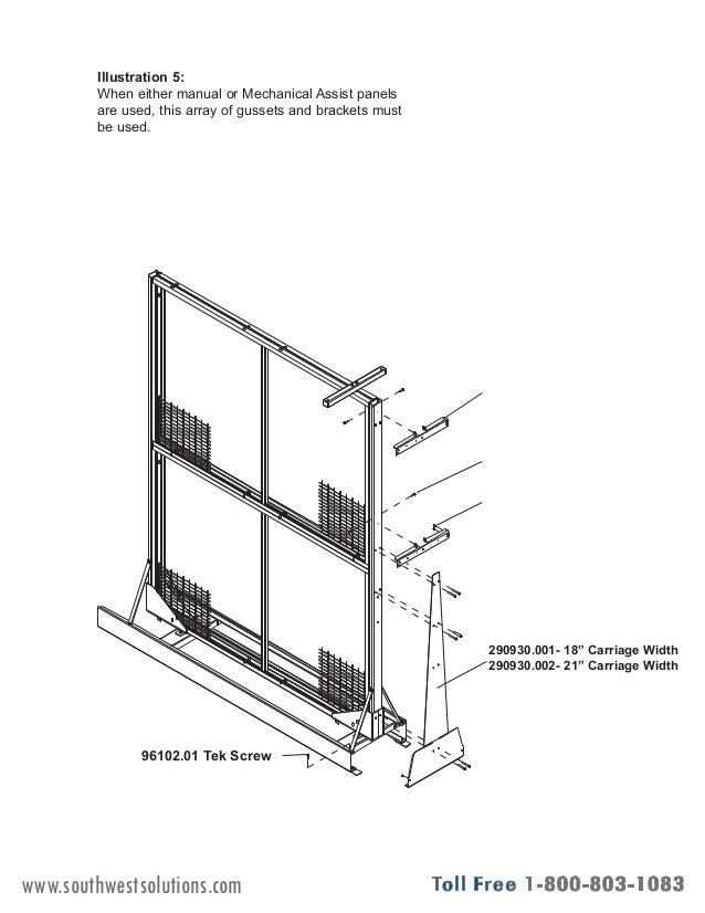 Rolling Art Rack Panels Installation Instructions
