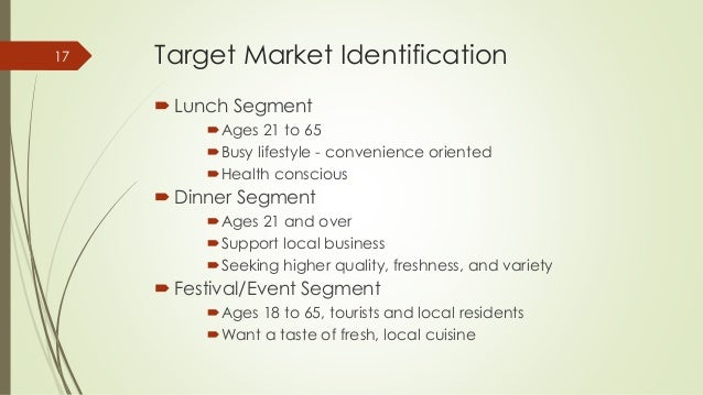 Target Customers For Healthy Food Truck