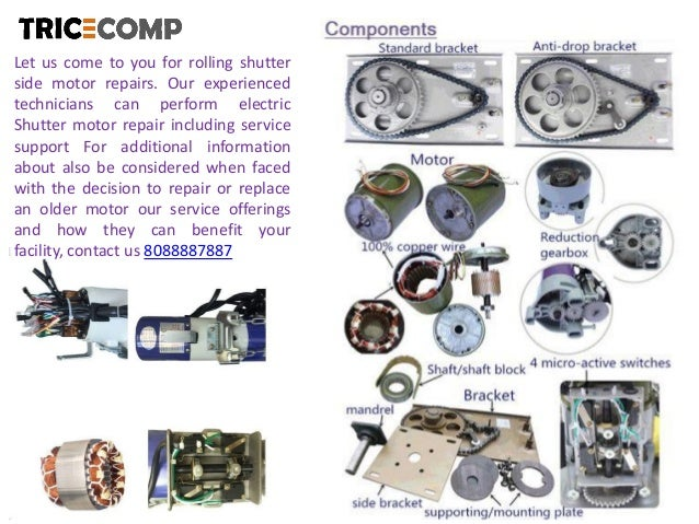Rolling Shutter Motor Repair Bangalore | Tricecomp