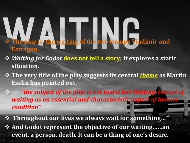 an analysis of the topic of waiting for godot Topic: existentialism in waiting for godot guided by: - drdilip barad submitted to: - department of english.