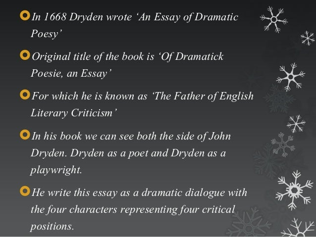 an essay on dramatic poetry - Kreditmjzsqqq
