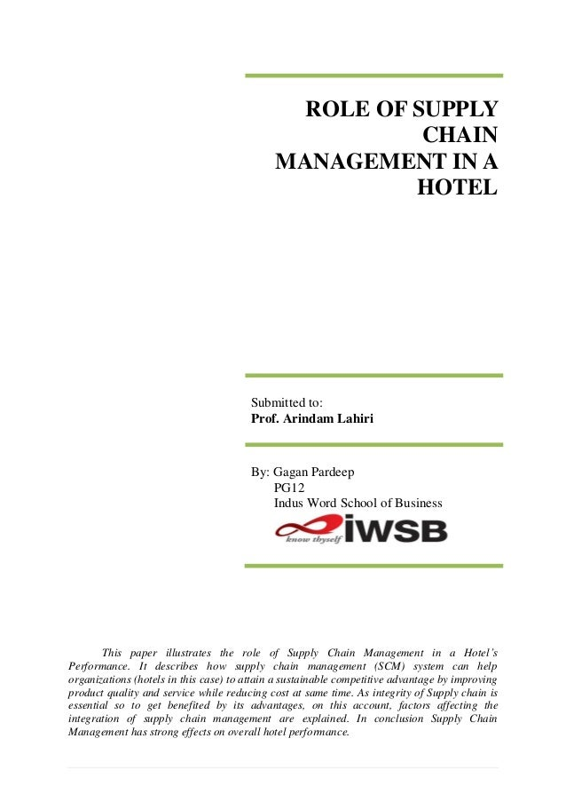 ROLE OF SUPPLY                                                        CHAIN                                             MA...