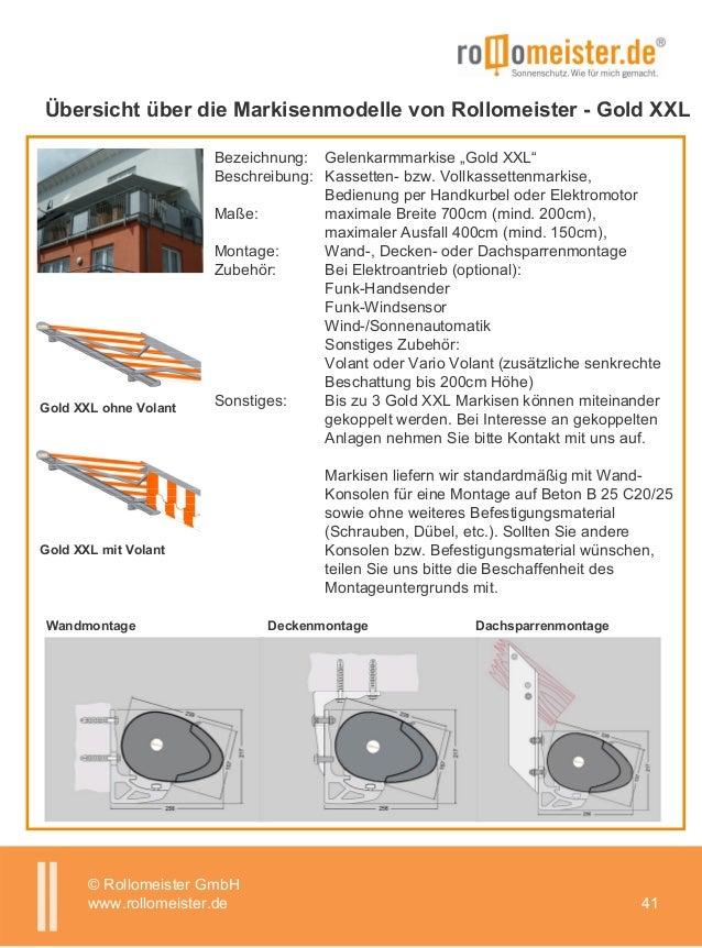 Rollomeister Katalog Onlineshop Markise Plissee Rollo