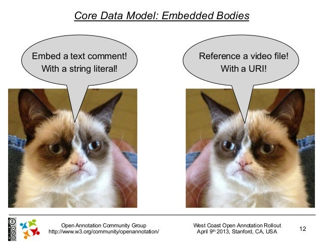 Core Data Model: Embedded BodiesEmbed a text comment!                               Reference a video file! With a string ...