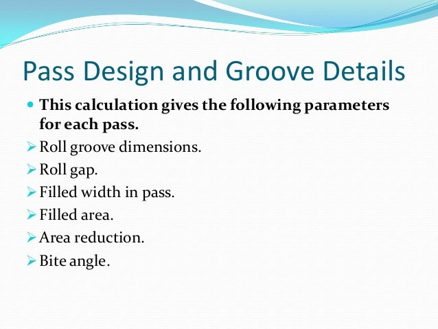 Roll pass design in continuous bar mills 7 sciox Image collections