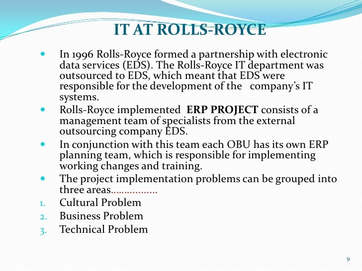 rolls royce implementing erp system and Free online library: sdrc reports successful metaphase enterprise pdm implementation at rolls-royce by business wire business, international aircraft engine industry contracts aircraft engines computer software industry software software industry.