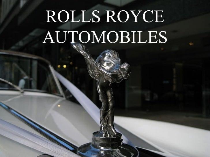 ROLLS ROYCEAUTOMOBILES