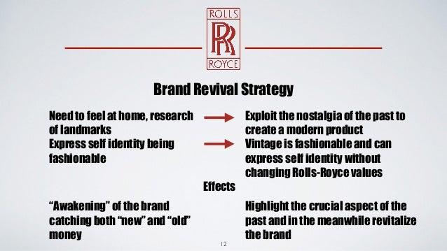 rolls royce strategic brand management