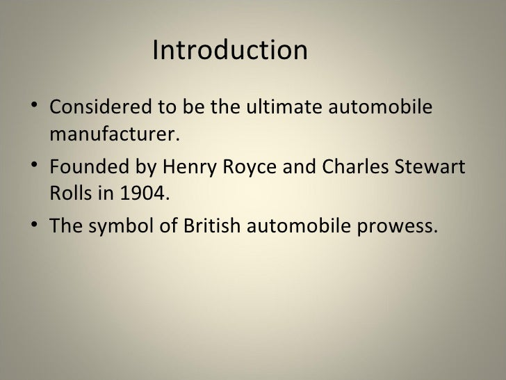 Rolls Royce Presentation Slide 2