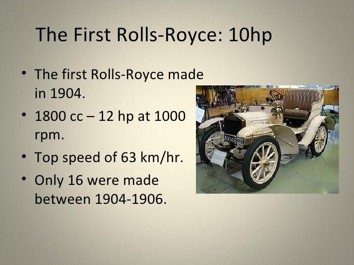 rolls royce presentation