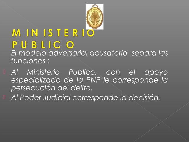 Ministerio Público y Policía Nacional ROL PROTAGONICO en INVESTIGACION DEL DELITO. El Ministerio Público conduce investiga...