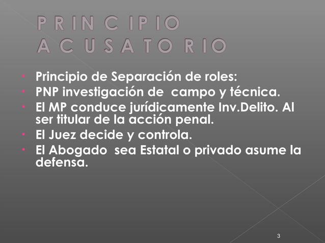  Art. IV Titular de la Acción Penal.- EL MP, deber de la carga de la prueba, asume la conducción de la investigación desd...