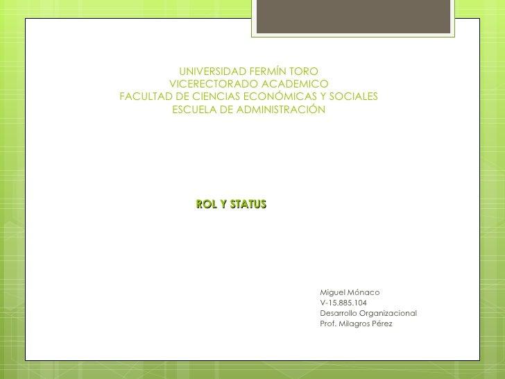 UNIVERSIDAD FERMÍN TORO        VICERECTORADO ACADEMICOFACULTAD DE CIENCIAS ECONÓMICAS Y SOCIALES        ESCUELA DE ADMINIS...